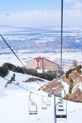 View on Erzurum from skilift in Palandoken