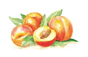 group of peaches