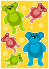 In de dag Beren Teddy bears background