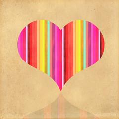 valentine heart on rainbow