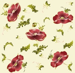 Seamless background from a flowers ornament