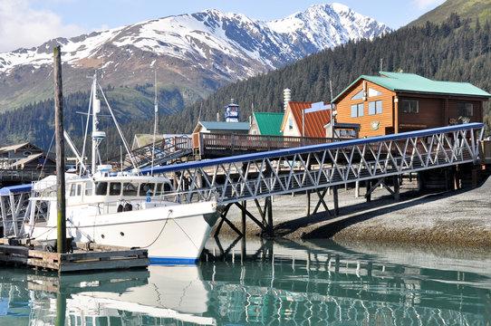 Seward Bay Harbor in Alaska