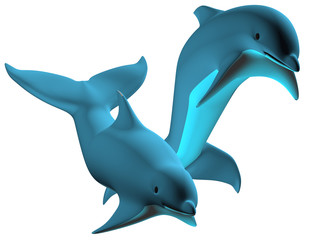 Fond de hotte en verre imprimé Dauphins Dolphin 02
