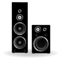 speaker two in black illustration
