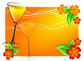 cocktail blumen hintergrund