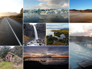 Iceland image collage