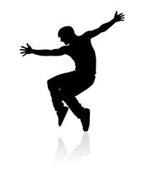 Силуэт танцора
