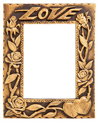 love gold frame