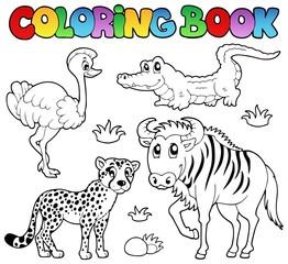 Coloring book savannah animals 2