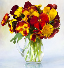 bouquet of pansy flower