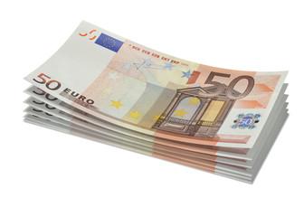 Stack of 50€ bills