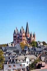 Blick auf Limburg mit Dom, Deutschland