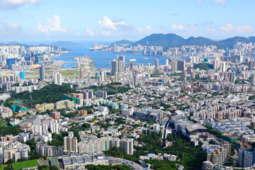 Hong Kong crowded building city