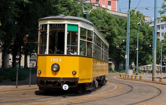 old tram of Milan, Italy
