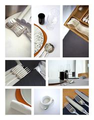 Restaurant, service, couverts, table, luxe, gastronomie