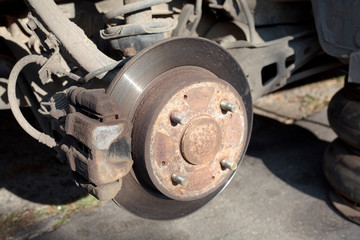 car disk brakes and suspension