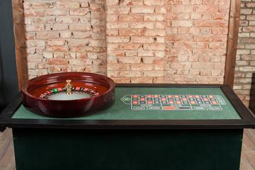 Casino, roulette table