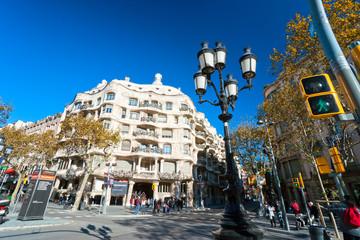 Casa Mila, also know as La Pedrera, Barcelona, Spain.
