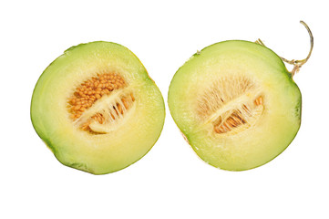 Sectional View Of A Cut Honeydew Melon