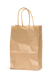 Isolated paper shopping bag
