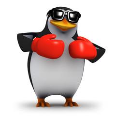 Fototapeta 3d Boxing penguin in tthe red corner obraz