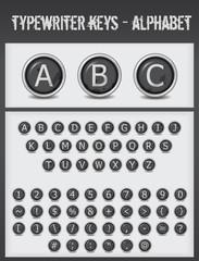 typewriter keys-alphabet-black