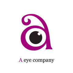 Logo letter A, with eye # Vector