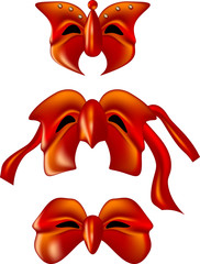 red theater masks