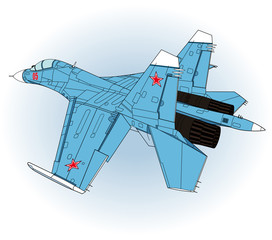 Jet Fighter aircraft, vector
