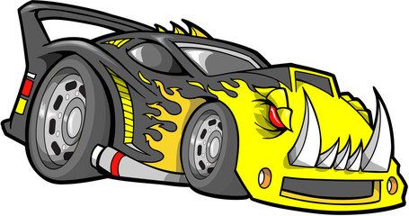 Hot-Rod Race-Car Vector Illustration