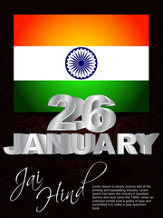 creative background for indian republic day