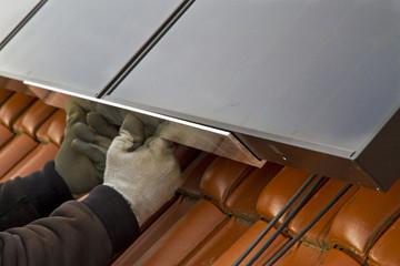 Solarzellenmontage