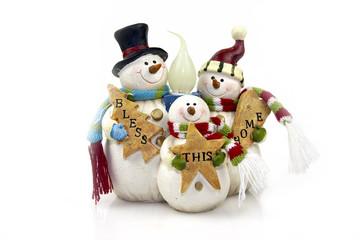 snowmans lamp