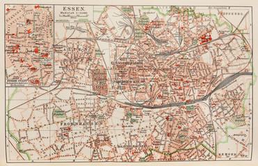 Vintage map of Essen