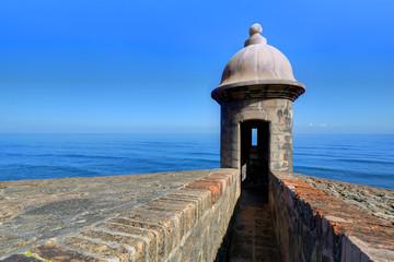 Recess Fitting Caribbean Castillo de San Cristóbal in San Juan, Puerto Rico
