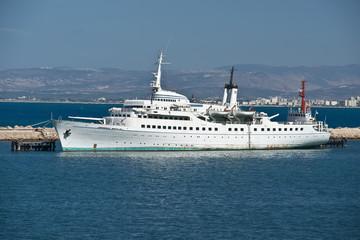Ship moored in port of Haifa