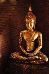 buddha statue in antique temple