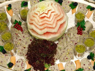 mousse and terrine platter