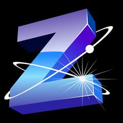 Buchstabe futuristisch - Z