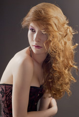 Beautiful woman with great red hair