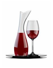rotwein karaffe und glas v2