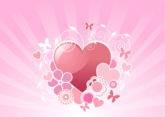 Valentine heart design