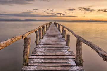 Wall Murals Bestsellers Landing Stage after sunset