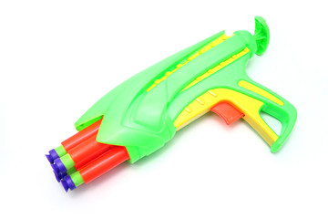 Isolated Toy Foam Dart Gun