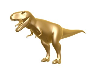 golden dinosaur