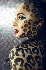 cat woman close up