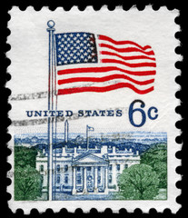 USA - CIRCA 1967 Flag and White House
