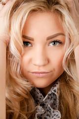 beauty portrait of a cute blond girl