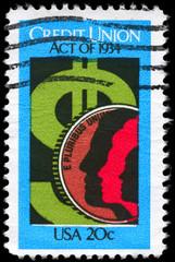 USA - CIRCA 1984 Credit Union