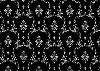 Vintage wallpaper black and white